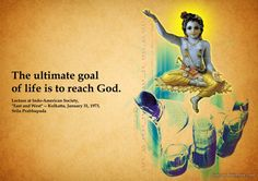 Ultimate Goal of Life  For full quote go to: http://quotes.iskcondesiretree.com/srila-prabhupada-on-ultimate-goal-of-life/  Subscribe to Hare Krishna Quotes: http://harekrishnaquotes.com/subscribe/  #GoalOfLife, #God