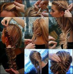 14 Fishtail Braided Hair Tutorials- double fishtail french braid