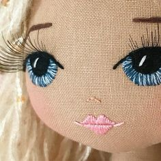 Upper dhali handmade dolls australia bespoke doll keepsake doll custom doll heirloom doll australian handmade made in australia It takes an abundance of time, patience & emotional connection to immerse myself completely just into the embroidery alone Doll Crafts, Diy Doll, Sewing Crafts, Crochet Crafts, Fabric Crafts, Homemade Dolls, Doll Eyes, Sewing Dolls, Toy Craft
