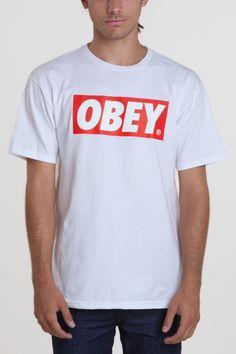 OBEY BAR LOGO BASIC TEE