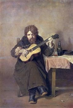 Vasily Perov (Russian, 1834-1882). Solitary Guitarist, 1865. Russian Museum, St Petersburg, Russia