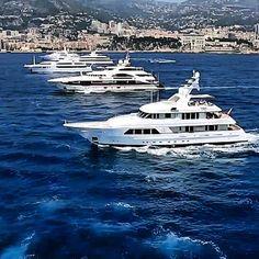 Mega Yacht Traffic. Photo by Super Yacht Media