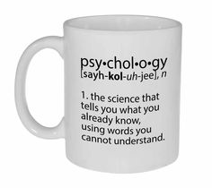 Psychology Definition Coffee or Tea Mug