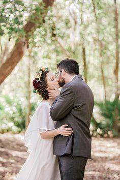 Bride and groom pose for portraits, Christian Renewal Church, Hilton Head, South Carolina Kate Timbers Photography. http://katetimbers.com #katetimbersphotography // Charleston Photography // Inspiration