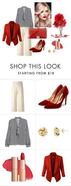 """""""Look Perfeito - Ampulheta"""" by andrea-224 on Polyvore featuring moda, Delpozo, Rupert Sanderson, Novo, H&M, Chanel e LE3NO"""