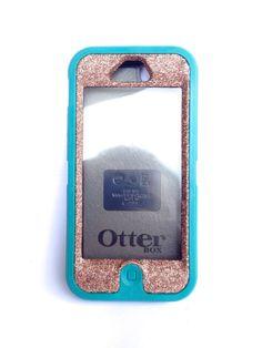 OtterBox Defender Series Case iPhone 5 Glitter Cute Sparkly Bling Defender Series Custom Case Teal / Sunstone