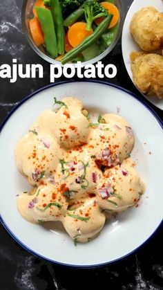 Veg Recipes, Spicy Recipes, Potato Recipes, Vegetarian Recipes, Cooking Recipes, Vegetarian Starters, Healthy Recipes, Cajun Potatoes, Roasted Potatoes