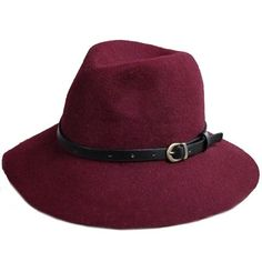 Chic Belt Decorated Fedora Hat For Women