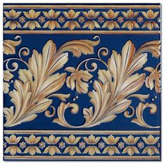 Kolekcja Lord - płytki ścienne Majesty Cobalto 20x20 Textile Prints, Textile Design, Floral Prints, Hellenistic Art, Square Patterns, Orthodox Icons, Border Design, Damask, Flower Art