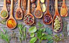 The age-old adage you are what you eat loosely sums up the premise of Ayurveda. - Ayurveda Health Benefits of 8 Common Spices and Herbs Ayurveda, Ayurvedic Herbs, Common Spices, Le Psoriasis, Les Allergies, Weight Loss Herbs, Gel Aloe, Spices And Herbs, Nutrition