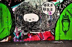 Street art and graffiti flourish in art-rich Yogyakarta.