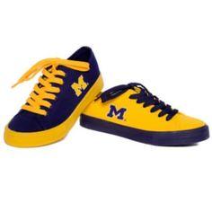 Reversus Michigan Wolverines Unisex Canvas Sneakers