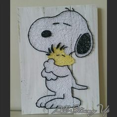 Thanks for looking. Snoopy with bird woodstock String Art, Made by hand with love in NSW, Australia. Find the rest of my pictures at the following places. Find my website at www.allstrungup.com.au Find me on Instagram at https://www.instagram.com/all_strung_up/ Find me on Facebook at https://www.facebook.com/All-Strung-Up-915873695199667/?ref=hl