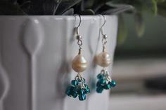 Pearl Earrings by HHRusticJewels on Etsy