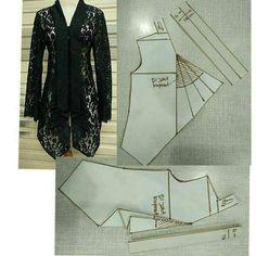 Amazing Sewing Patterns Clone Your Clothes Ideas. Enchanting Sewing Patterns Clone Your Clothes Ideas. Dress Sewing Patterns, Blouse Patterns, Clothing Patterns, Kebaya Brokat, Pola Kebaya Kutubaru, Model Kebaya, Batik Kebaya, Kebaya Peplum, Kebaya Muslim