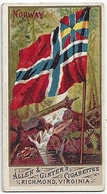 1887 Allen Ginter Flags of All Nations Norway Kingdom Of Sweden, Trondheim, Old Postcards, Flags, Vikings, Norway, Art Nouveau, Photos, Painting