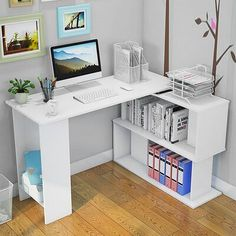 Room Ideas Bedroom, Bedroom Decor, Cute Room Decor, Writing Table, Dream Rooms, My New Room, Room Inspiration, Bookshelves, Storage Spaces