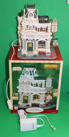 LEMAX Caddington Christmas Village Ryan & Morgan Jewelry and Clocks Store ~ RARE
