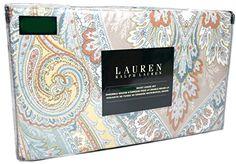 Ralph Lauren Agnes Paisley Scrolls Taupe Blue Tan Teal Orange Ivory 3pc Duvet Cover Set Floral Paisley 100% Cotton (Full/Queen) RALPH LAUREN http://www.amazon.com/dp/B01BH534ZE/ref=cm_sw_r_pi_dp_pu8Zwb035KDHZ