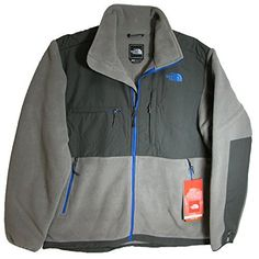 The North Face Mens Denali Fleece Jacket, R Pache Grey/Asphalt Grey, L (884805451331) Classic fleece for warmth in cool to cold conditions. Napoleon chest pocket, Horizontal chest pocket, Two hand pockets. Elasic-bound cuffs, Pit-zip vents, Hem cinch cord. Polartec 300 Series Fleece with REPREVE Fibers and DWR. 85% recycled content (by weight).
