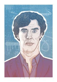Sherlock Holmes by Ian Carrington, via Behance