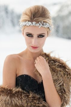Winter Wedding Inspiration by Blue Rose Photography, Styled by Simply by Tamara Nicole, Hair and Makeup by Yessie Makeup Artistry.Hannah Loop= SMG model, etc.
