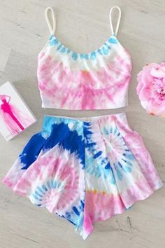 GET $50 NOW | Join RoseGal: Get YOUR $50 NOW!http://www.rosegal.com/tankinis/trendy-colored-cami-crop-top-and-flouncy-shorts-women-s-swimsuit-555147.html?seid=4021664rg555147