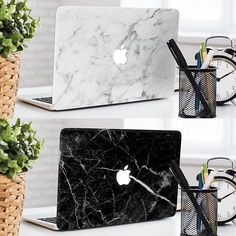 White or Black Marble?  Macbook Skins by @rosewood.cases   Get FREE worldwide shipping TODAY!  http://ift.tt/1TmDWek