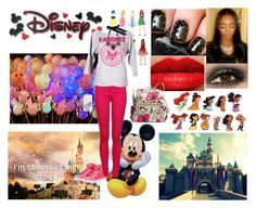 """""""I'm obsessed with disney"""" by heywuzup ❤ liked on Polyvore featuring Disney, Shay, Pastry, Dr. Denim, Coach, C. Wonder and Lanvin"""