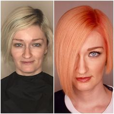 MAKEOVER: Faded Blonde To Electric Apricot - Hair Color - Modern Salon