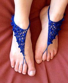 Clones Knot Barefoot Sandals Free Crochet Pattern