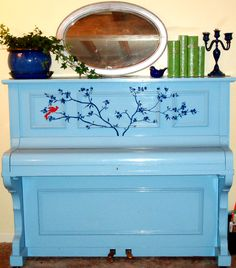 Another painted piano...but I wouldn't use this color