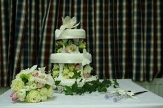The wedding cake, filled with fresh flowers was very unusual and yet naturally beautiful.