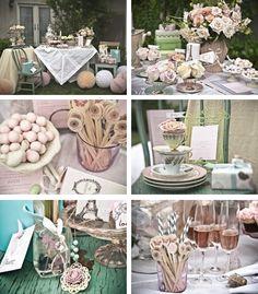 feminine and romantic party decor