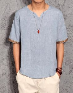 Abetteric Mens Solid-Colored Half Sleeve Summer Comfort Relaxed-Fit T Shirt