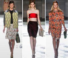 Prada Spring 2012 ... wet hair trend, midriff trend