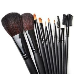 Makeup 10pcs. Professional Brush Set With Nylon Pouch --Black, Graduation gift idea $15.99