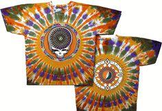 Grateful Dead Steal Your Feathers Sunburst Tie-dyed T-Shirt Grateful Dead Merchandise, Grateful Dead Shirts, Tie Dye Shirts, Band Shirts, Grateful Dead Tour, Hippie Shop, Dead And Company, Tie Dye Colors, Native American Design