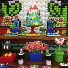 Fiesta temática de Mario Bros Participa y juega en la fiesta de Mario Bros., Todos los chicos quieren derrotar a todos los enemigos y con...