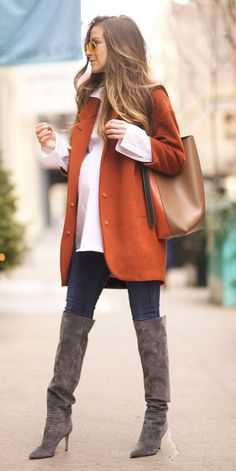 31 Most Popular Fall Outfits to Truly Feel Fantastic - Hi Giggle! - Welcome to our website, We hope you are satisfied with the content we offer. Winter Maternity Outfits, Stylish Maternity, Maternity Wear, Maternity Work Clothes, Maternity Styles, Maternity Swimwear, Maternity Nursing, Winter Outfits 2017, Fall Outfits