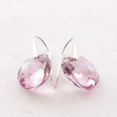 Glamouröse Ohrringe von Swarovski in Rosa - feminin und extravagant