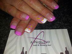 Spring french nail art
