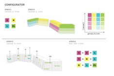 Image 11 of 24 from gallery of Architects Uses Algorithm to Design Customizable Apartment Complex. Courtesy of Architects Schematic Design, Residential Complex, Apartment Complexes, Collage Illustration, Architects, How To Plan, Gallery, Drawings, Draw