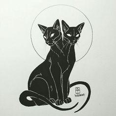 Art of Krista Tyni Cat tattoo Art Inspo, Inspiration Art, Tattoo Drawings, Body Art Tattoos, Small Tattoos, Sleeve Tattoos, Tatoos, Art Du Croquis, Arte Horror