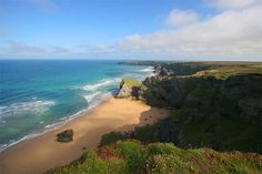 Cornwall, England. The coastline is beautiful.   Photo taken overlooking Bedruthan Steps, just north of Newquay.