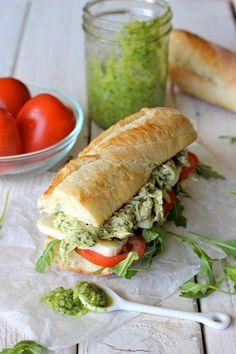 Chicken Recipes : Chicken Pesto Sandwich Recipe