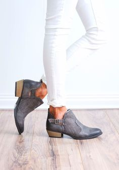 Distressed Stone Bootie