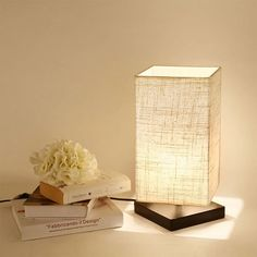 Wood Base Minimalist Fabric Shade Lighting Fixture Home Table Bedside Desk Lamp: $18.99 End Date: Friday Oct-5-2018 18:10:34 PDT Buy It Now…