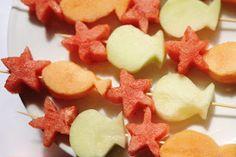 Fish & Starfish Fruit Skewers
