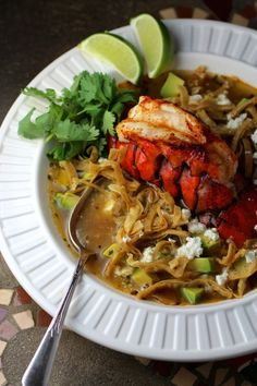 Lobster Tortilla Soup (Sopa de Tortilla con Langosta)